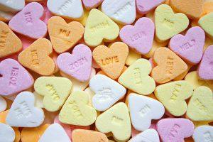 Dulces forma corazon