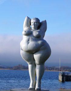 Estatua de obesa