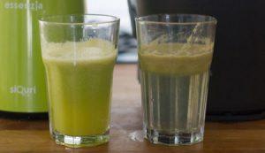 zumos de batidora, antes y despues
